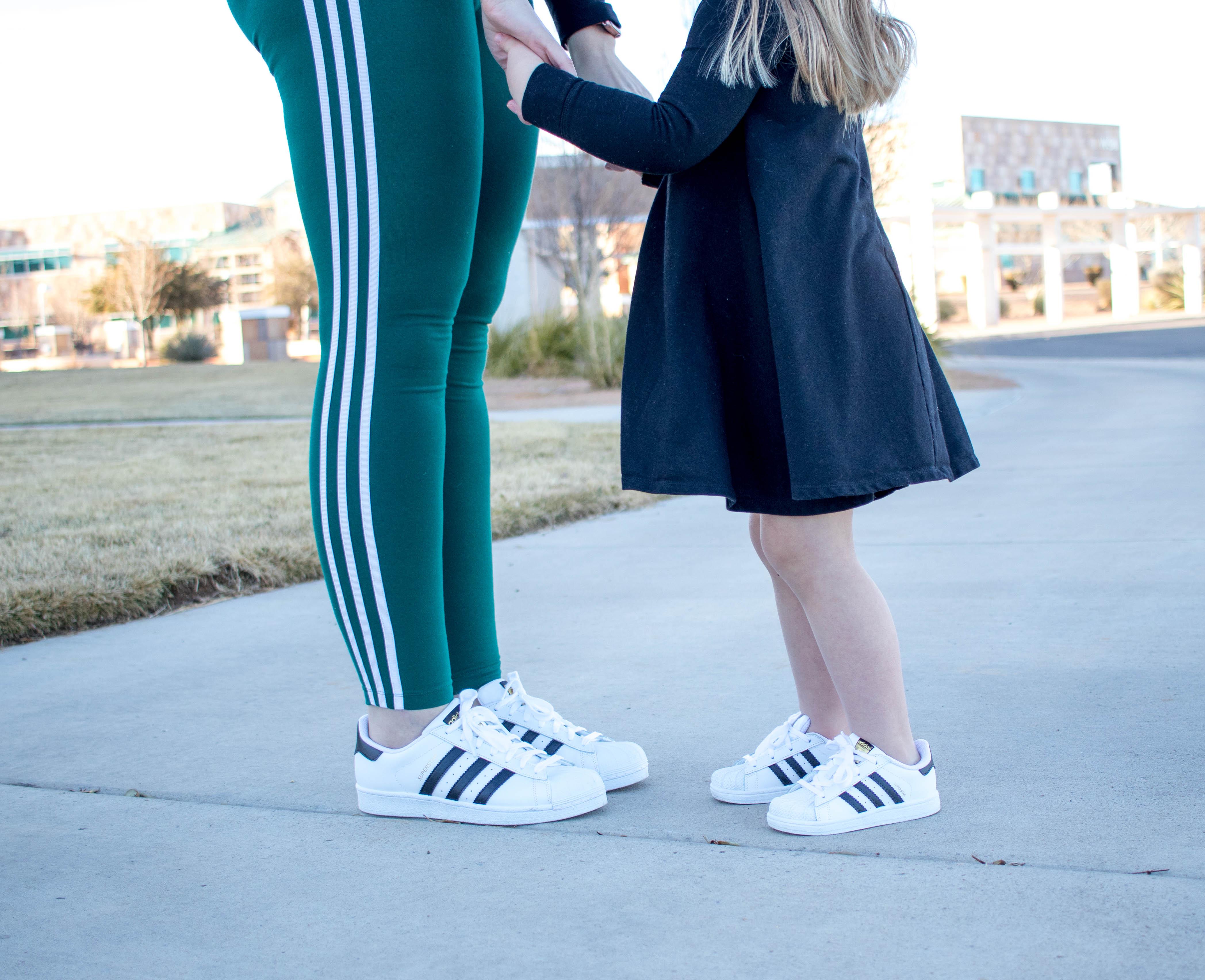 Adidas superstar originals twinning #twinning #Adidas #mommyandmestyle