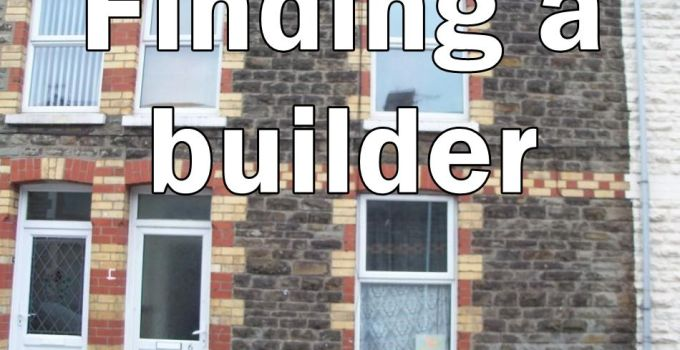 "Gwendoline St with ""finding a builder"" written on it"