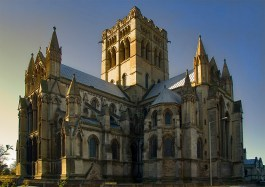 The Roman Catholic cathedral (St.John the Baptist) on Earlham road Norwich catches the low angle November sunshine. Norwich is one of the few English cities to have two cathedrals. This is an extended dynamic range image created from a single RAW file.
