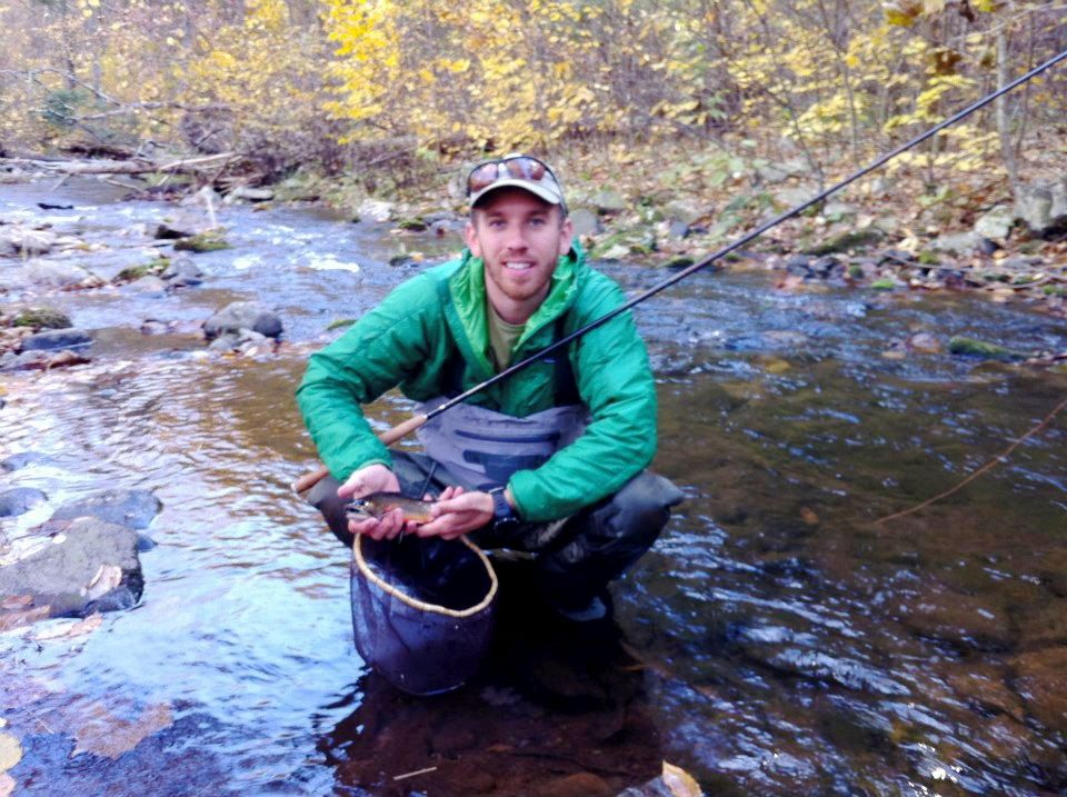 Daniel lands a brookie on an Ito