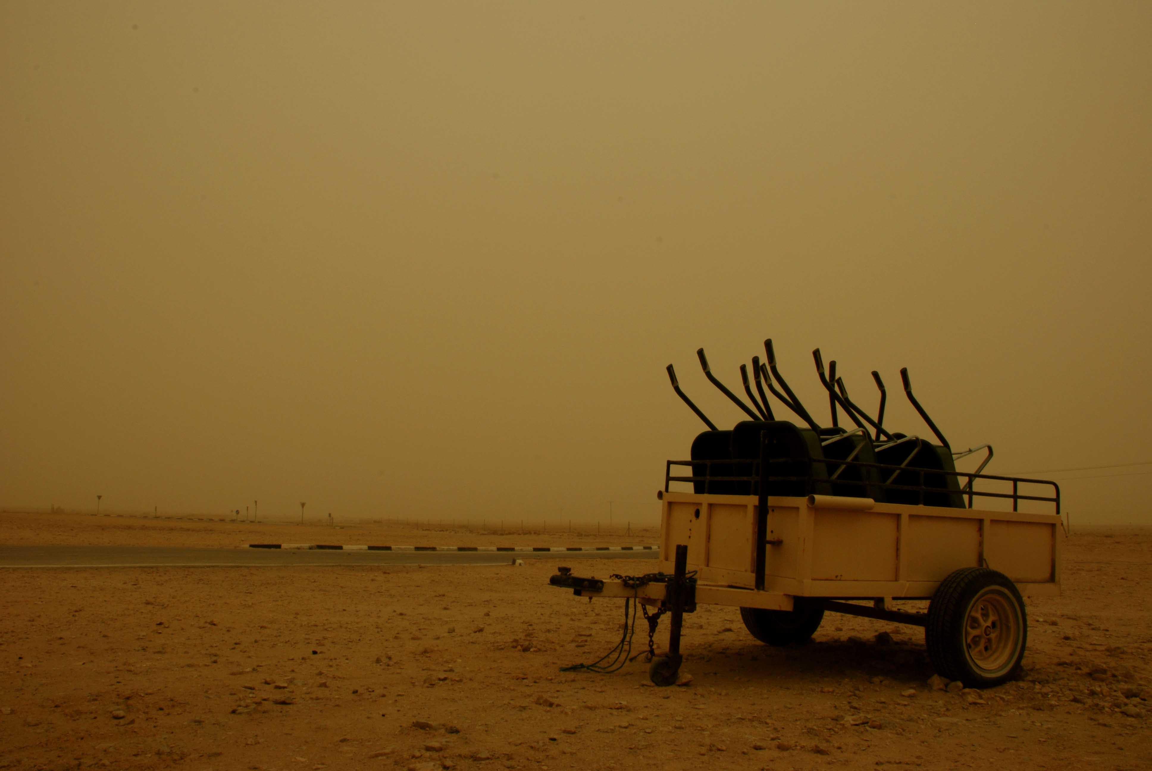 Dust Storm in Qatar, by Daniel Eddisford