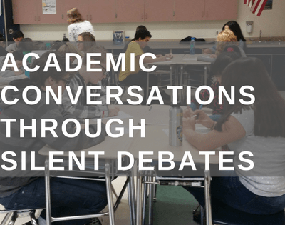 Introduce students to Academic Conversations through Silent Debate.