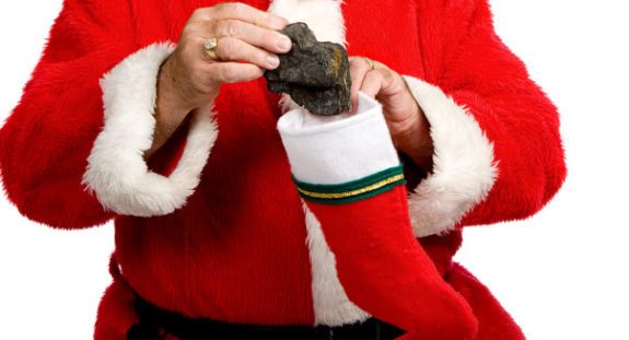 Image result for lump of coal in stocking images