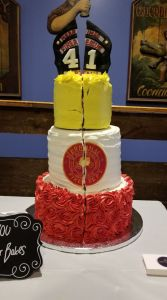 middle sister bakes cracked fire retirement cake