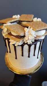 middle sister bakes smores cake 2