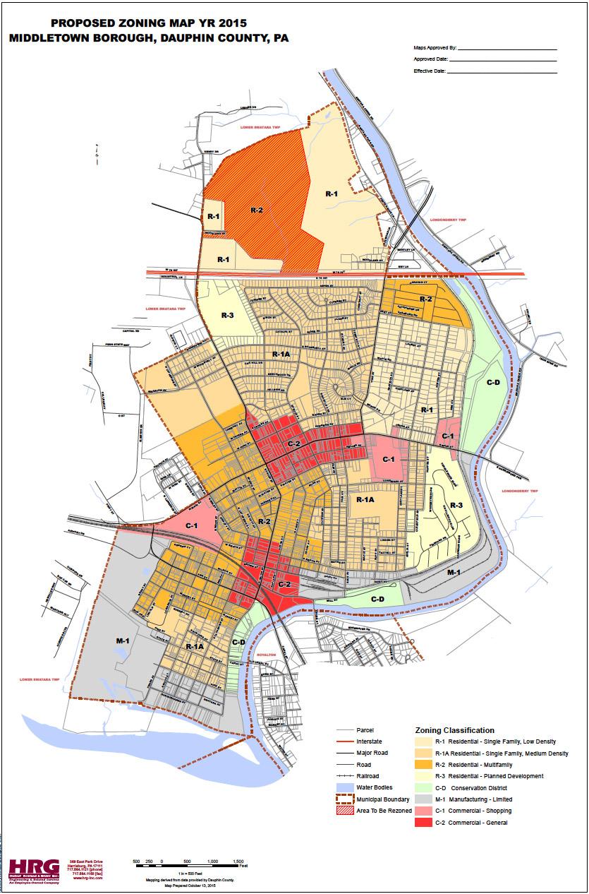 Middletown Borough Zoning Map