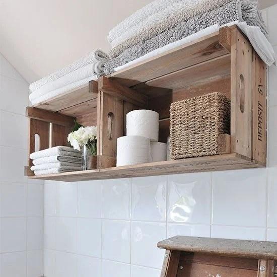 Cajas de madera para el baño