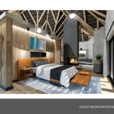 8. Nkwe Guest Bedroom Artistic Render