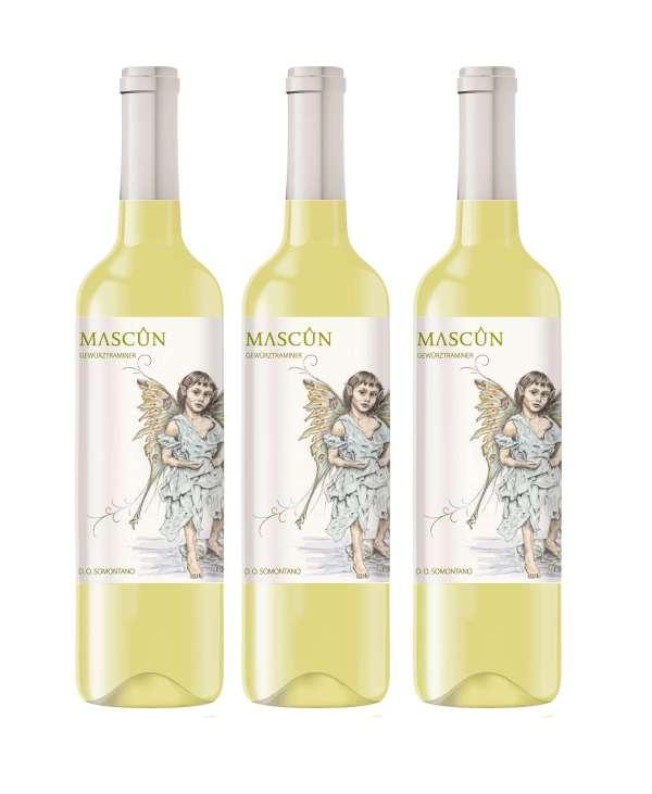 lote 3 botellas vino blanco traminer