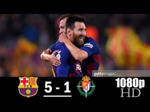 barcelona vs valladolid 5-1 highlights