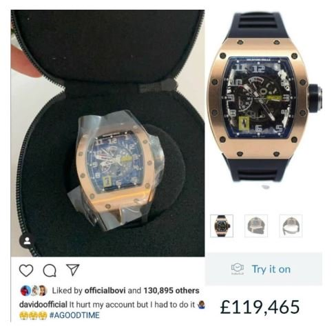 Check Out The 55 Million Naira Wrist Watch Davido Just Bought (Photos)