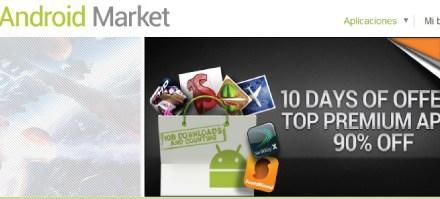 El Market de Android supera las 10.000 millones de apps descargadas.