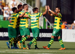 Rowdies Celebrate - Photo by Matt May/Tampa Bay Rowdies
