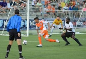 Nacho Novo On The Ball (Photo: Carolina Railhawks)