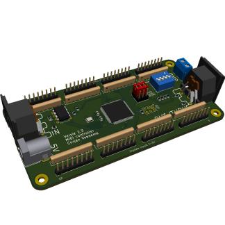 MIDI controller 64 inputs