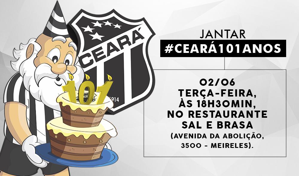 O Ceará vai comemorar seus 101 anos de fundação em uma festa inesquecível para o torcedor