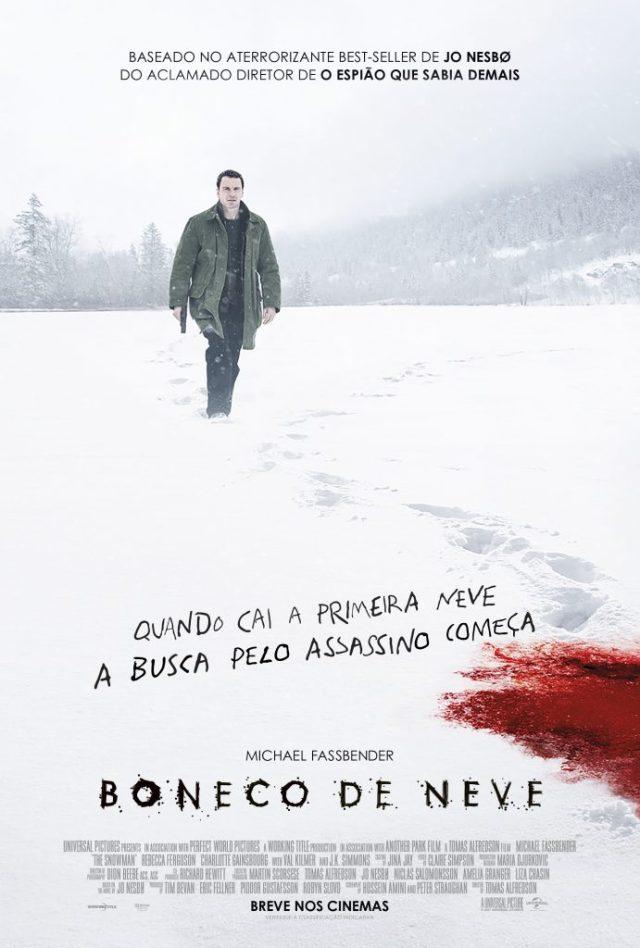 """boneco-691x1024 NOVO CARTAZ DE """"BONECO DE NEVE"""" DESTACA HARRY HOLE, PERSONAGEM DE MICHAEL FASSBENDER"""