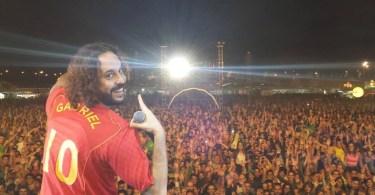 gabriel opensador - Relembre: Gabriel, o Pensador rima de improviso em Portugal