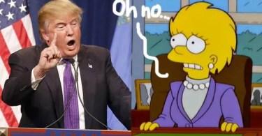 donald trump president the simpsons  oPt