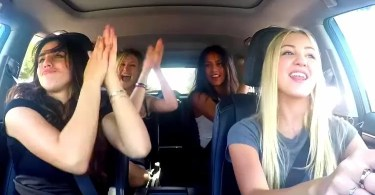 girls carpool karaoke omg