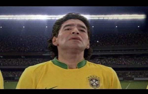 Fotos, Curiosidades, Comunicação, Jornalismo, Marketing, Propaganda, Mídia Interessante maradona-brasil É Brasileiro ou Argentino? Humor