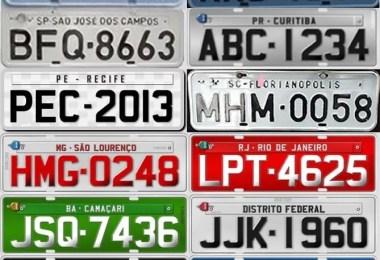 placas de carro por estado1 - Trânsito: Cor das placas dos carros no Brasil