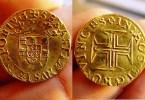 500 reais ouro D. Sebastião - Qual foi a primeira moeda utilizada no Brasil?