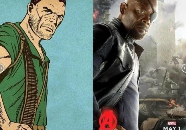 Avengers originales comparados con los poster de la película 7 730x510 650x454 - Fotos dos super-heróis da Marvel que foram copiadas dos quadrinhos