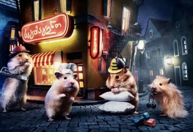 "Crafted miniature town for online series HUNGRY HUNGRY HAMSTERS 5936987e82642  880 - Genial! Artistas criam uma ""mini cidade"" para Hamsters"