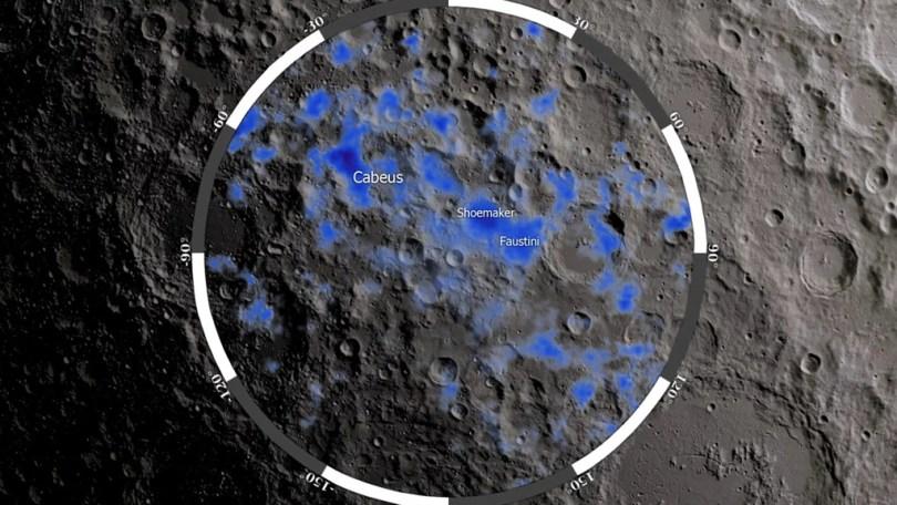 agua de gelo na lua - NASA LRO confirma camadas finas de gelo na Lua