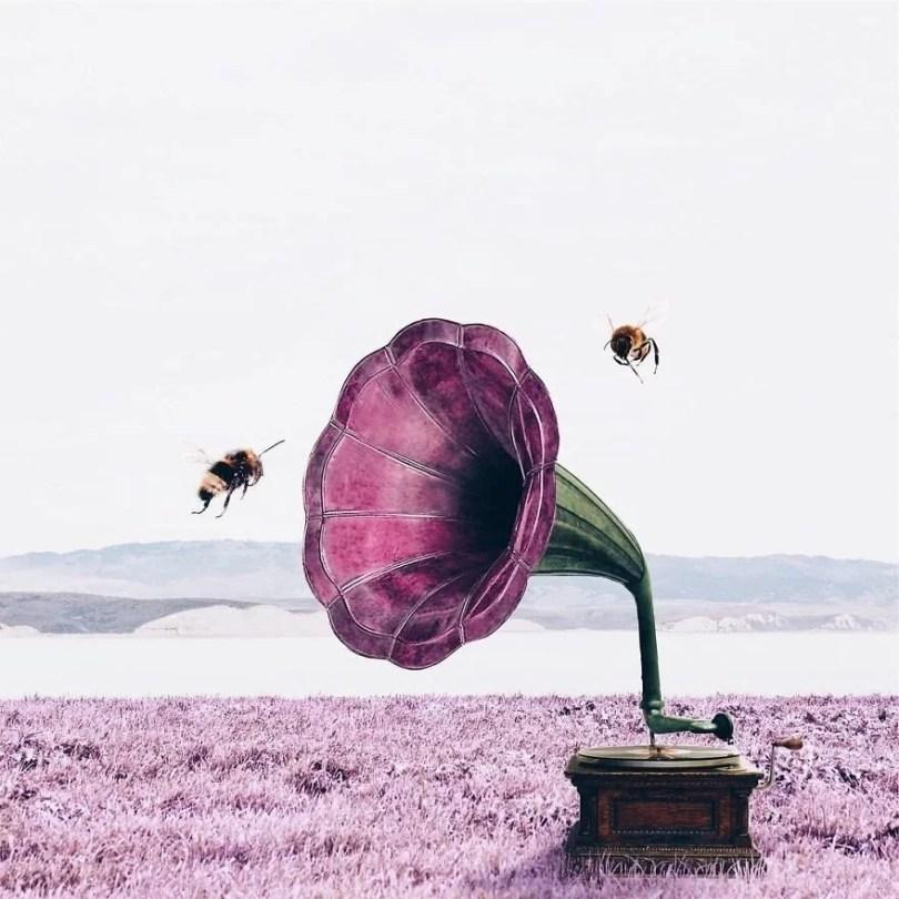 foto objetos inesperados para criar arte surreal6 - Menina usa edição no Photoshop para fazer imagens surreais
