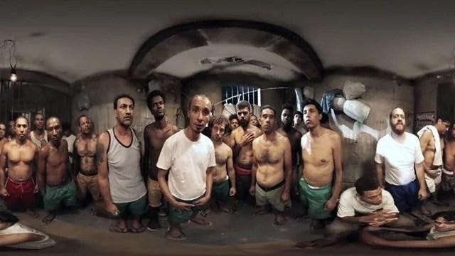 presos super lotação concetas - Vídeo em 360 mostra a super lotação dentro de um presídio brasileiro