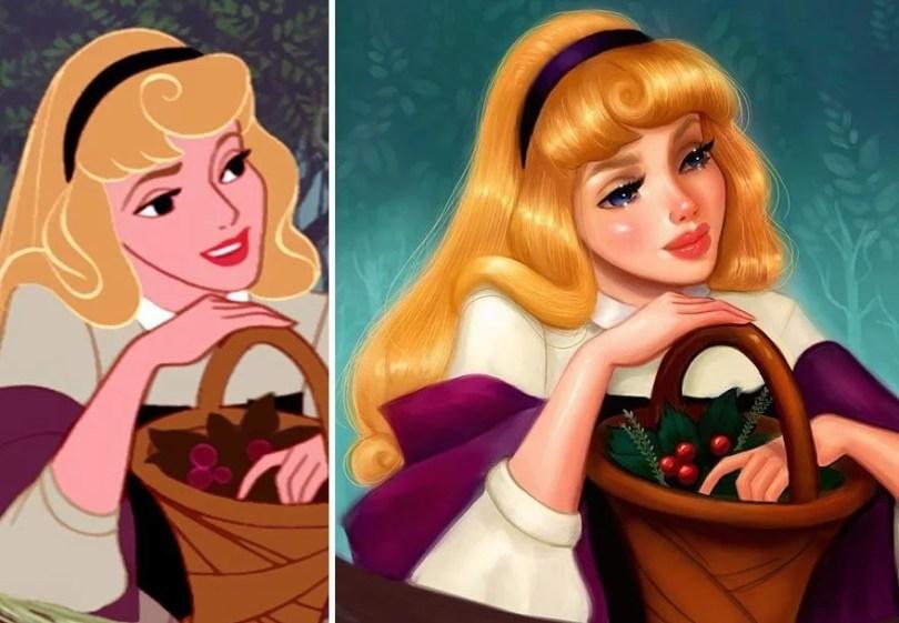 repainted disney princesses isabelle staub 6 58f5b4fdafe76  880 - Ilustradora faz design de princesas da Disney em estilo único