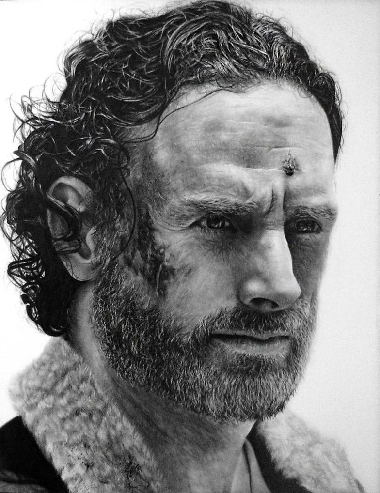 rick grimes drawing   the walking dead by names76 d9azgjl - 5 vídeos de pessoas desenhando o personagem Rick Grimes da série The Walking Dead