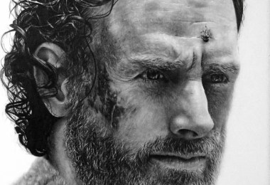 rick grimes drawing   the walking dead by names76 d9azgjl - 5 vídeos de pessoas desenhando o personagem Rick Grimes da série The Walking Dead