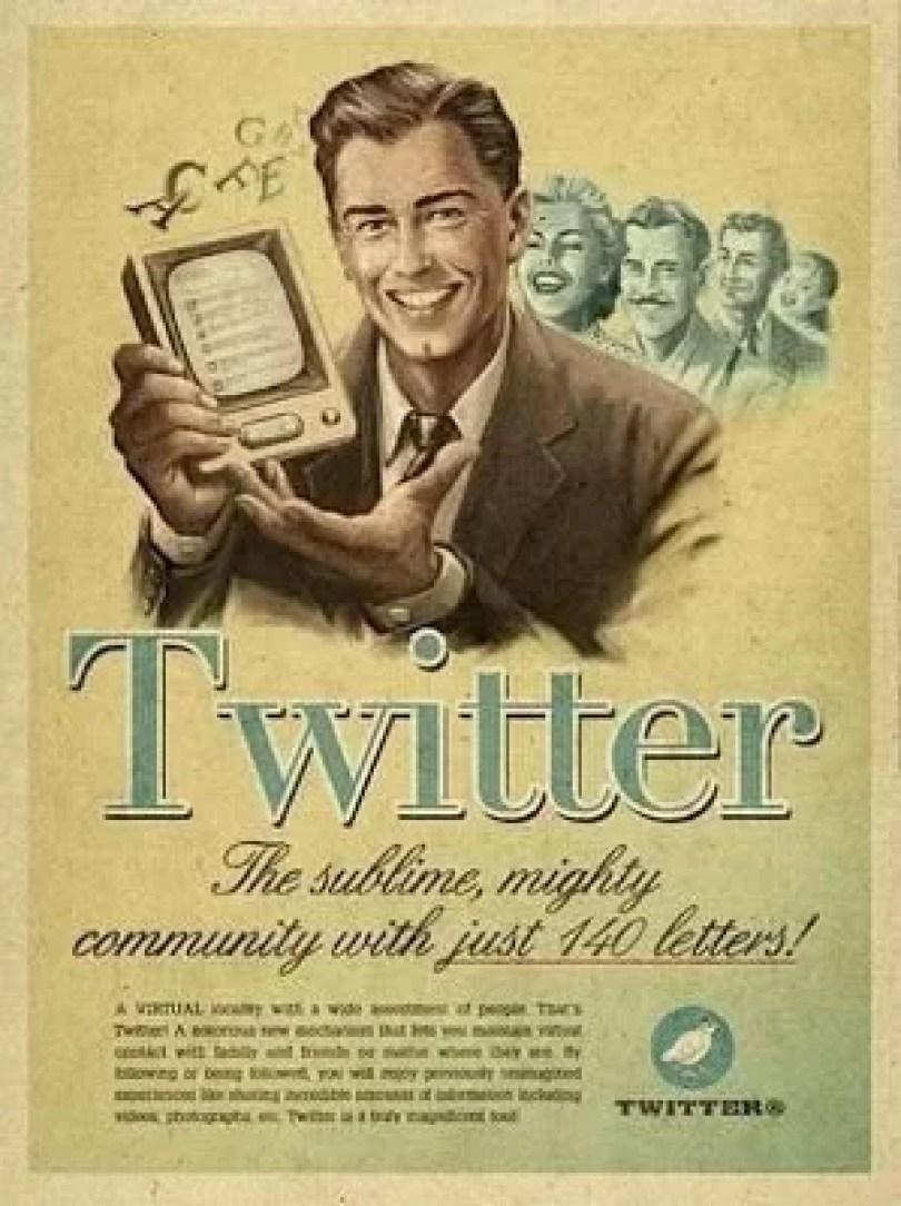 twitter antigamente - Como seria o marketing das Redes Sociais se fossem antigamente?