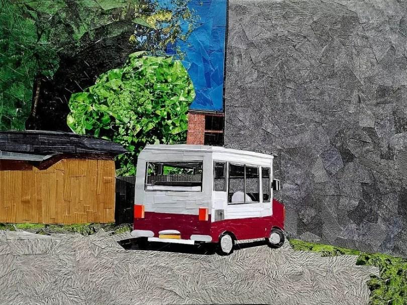 Paisagens urbanas que parecem pinturas a óleo que eu crio usando apenas papel e cola12 - Artista polonês usa papel e cola em quadros que parecem a tinta a óleo