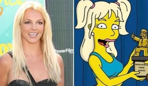 Fotos, Curiosidades, Comunicação, Jornalismo, Marketing, Propaganda, Mídia Interessante brtiney-spears-simpsons Cantores que já apareceram em Os Simpsons Internet Lembranças Música  apareceram em Os Simpsons