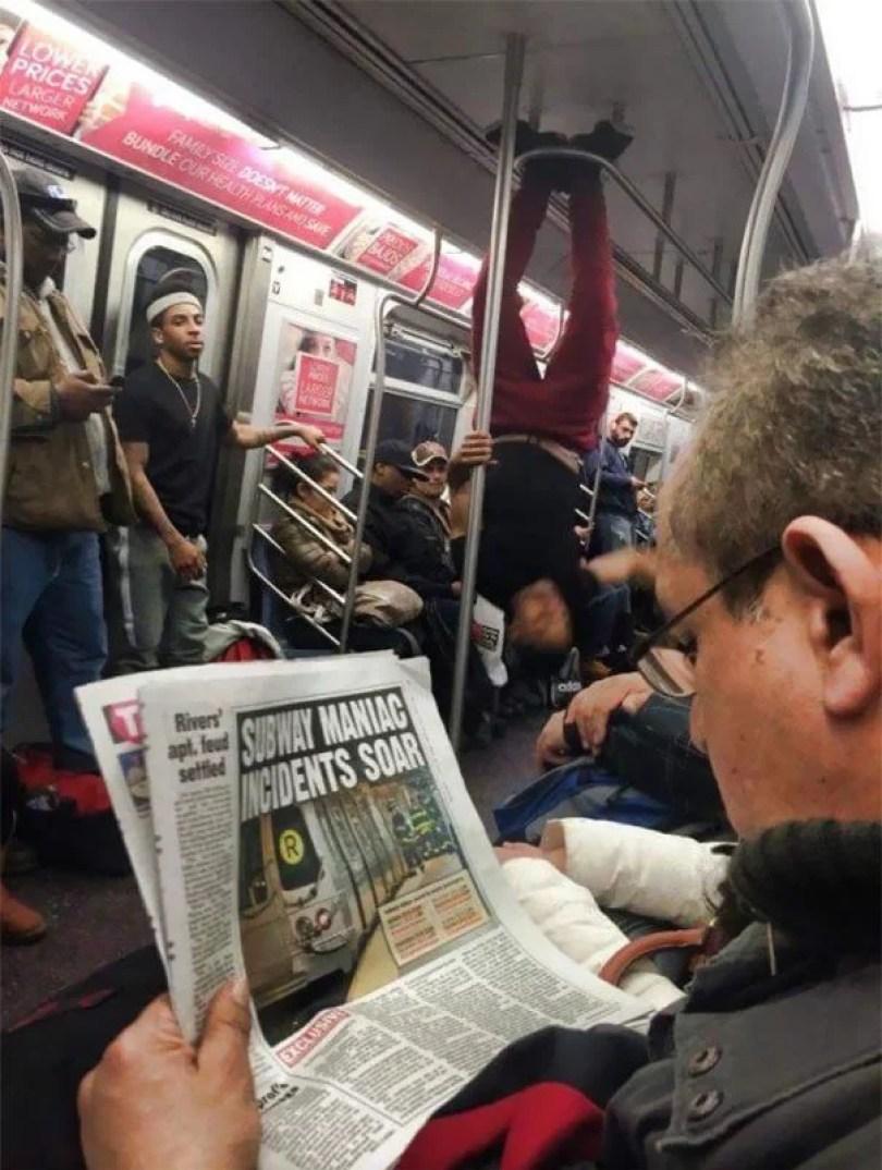 cotidiano no metro no mundo 34 - Metrô - Um lugar que se vê de tudo
