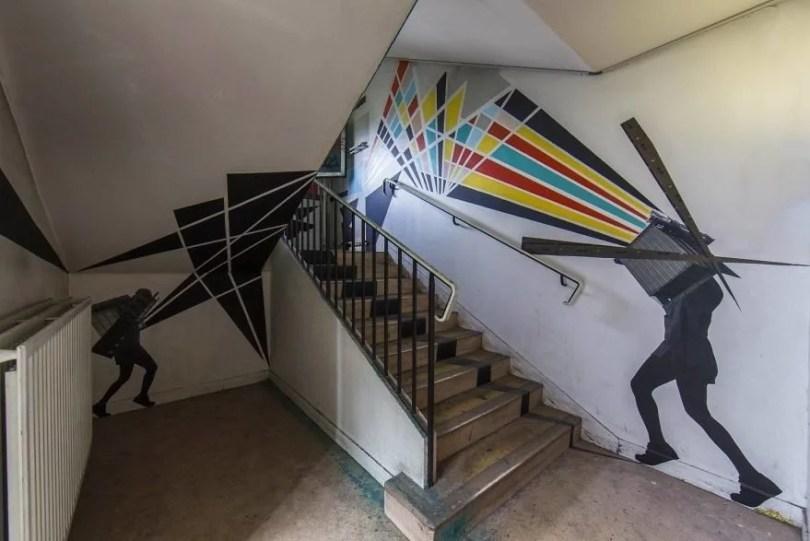 grafite pinturas artistas 25 - Grafiteiros pintam uma residência estudantil e o resultado chama atenção