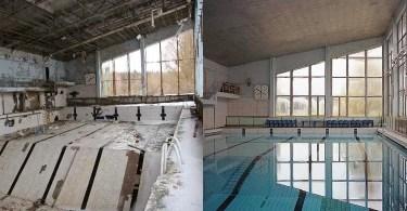 pool in pripyat - Imagens sobrepostas com celular – O resultado é bem divertido! (Parte 3)