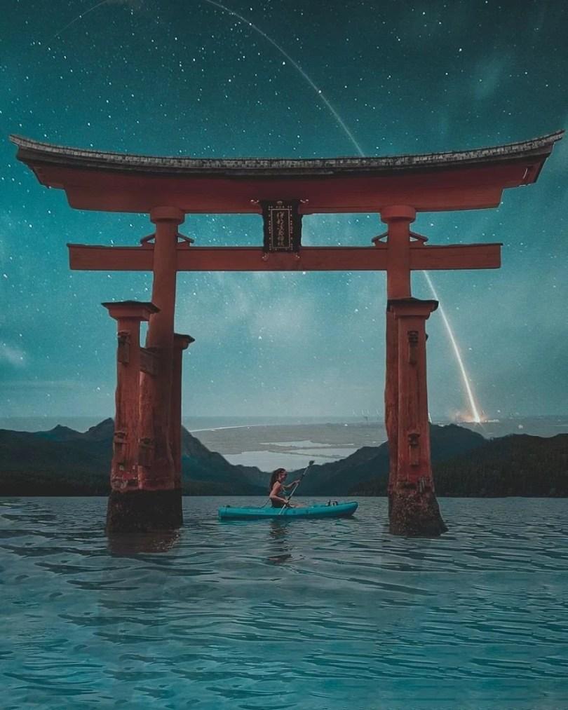 sonho tom azul3 - Indonesiano de 16 anos faz fotos montagens incríveis no Photoshop