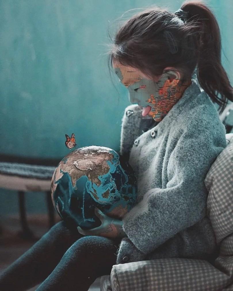 sonho tom azul5 - Indonesiano de 16 anos faz fotos montagens incríveis no Photoshop