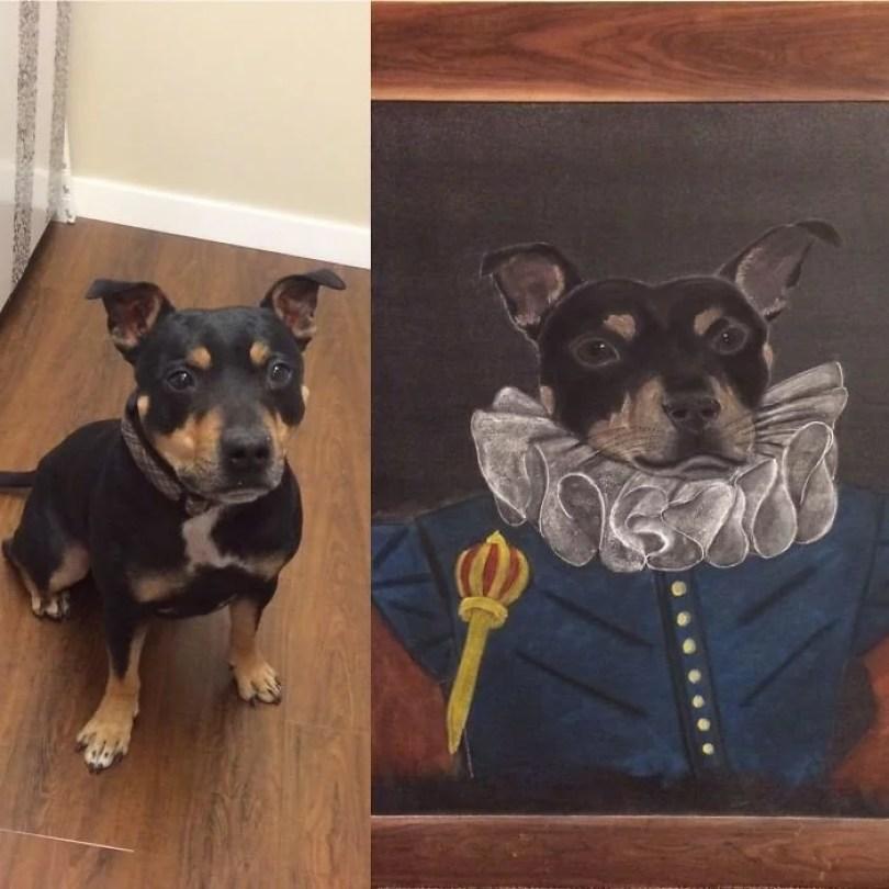 donos fizeram quadros de seus pets24 - Donos que fizeram quadros de seus pets