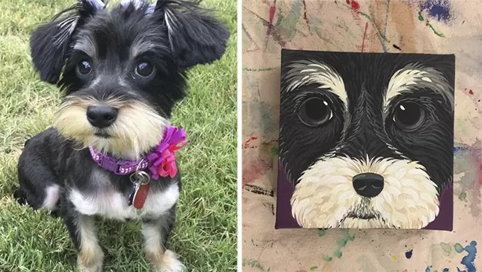donos fizeram quadros de seus pets6 - Donos que fizeram quadros de seus pets