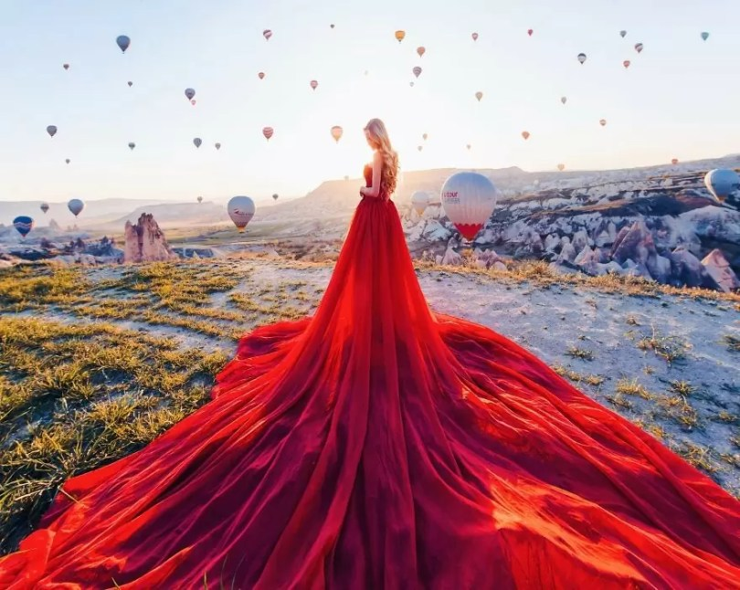 imagens impressionantes9 - Fotos impressionantes de meninas com vestidos em cenários deslumbrantes