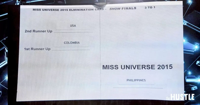 papel do miss universo 2015 lido errado - Vídeo: Todas as coroações do Miss Universo 1952-2016