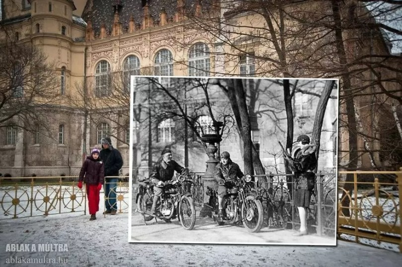 Photographer joins the present and the past in an image and the result is incredible 5b46fabb88a1c  880 - Fotografias mostram o mesmo lugar anos atrás