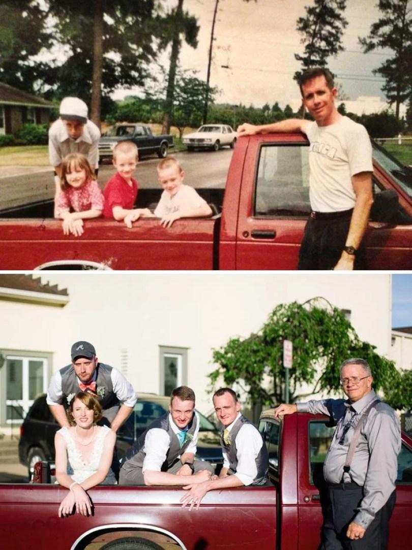 fotos antigas de familia 12 - Famílias reproduzem suas fotos antigas com hoje em dia #Parte 2