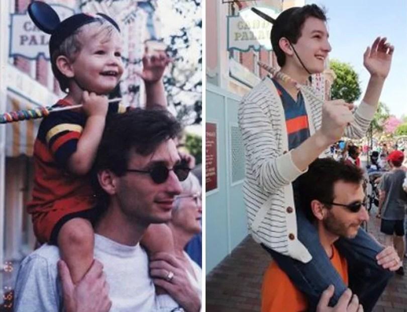 fotos antigas de familia 20 - Famílias reproduzem suas fotos antigas com hoje em dia #Parte 2